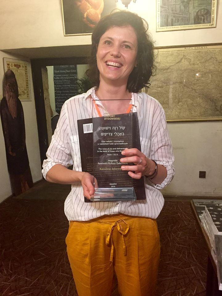 Nagroda Festiwalu Kultury Żydowskiej dla Karoliny Jakoweńko